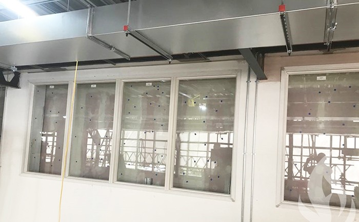 Installation of fire-rated screens
